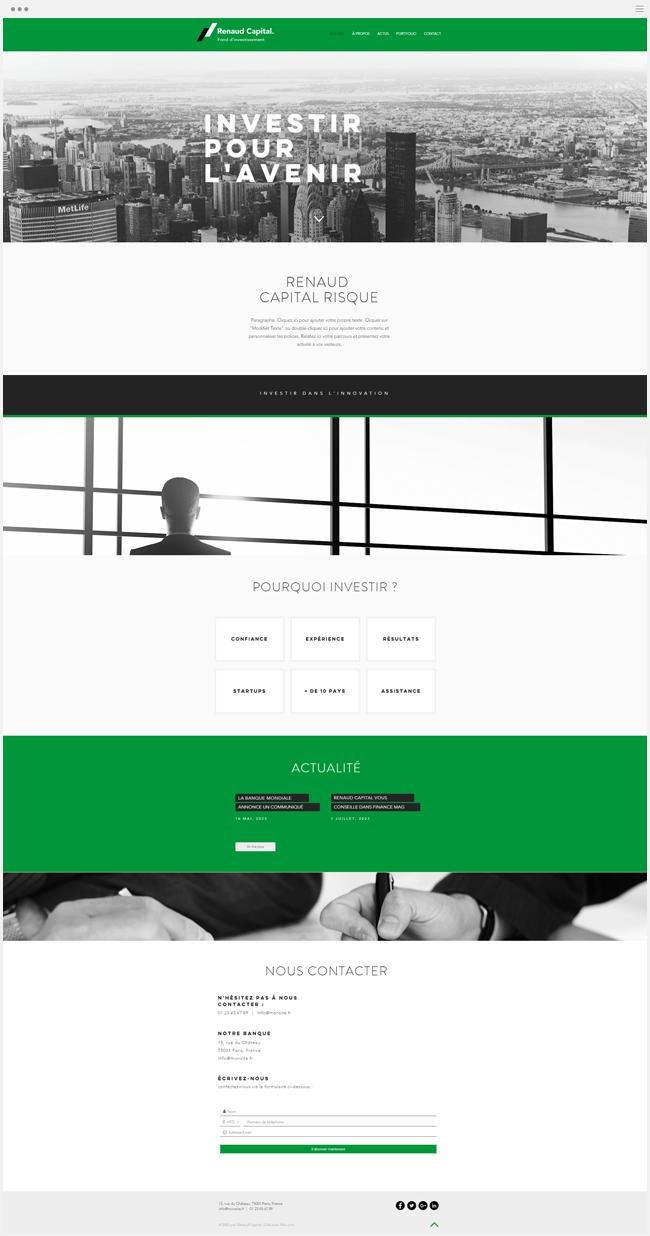 template gratuit site internet banque services avocats