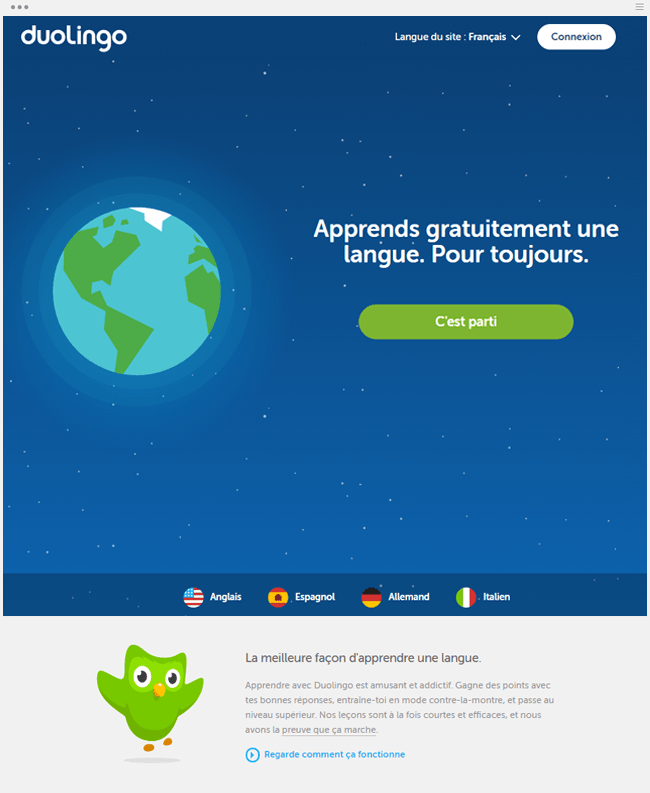 duolingo apprentissage gratuit en ligne de langues étrangères
