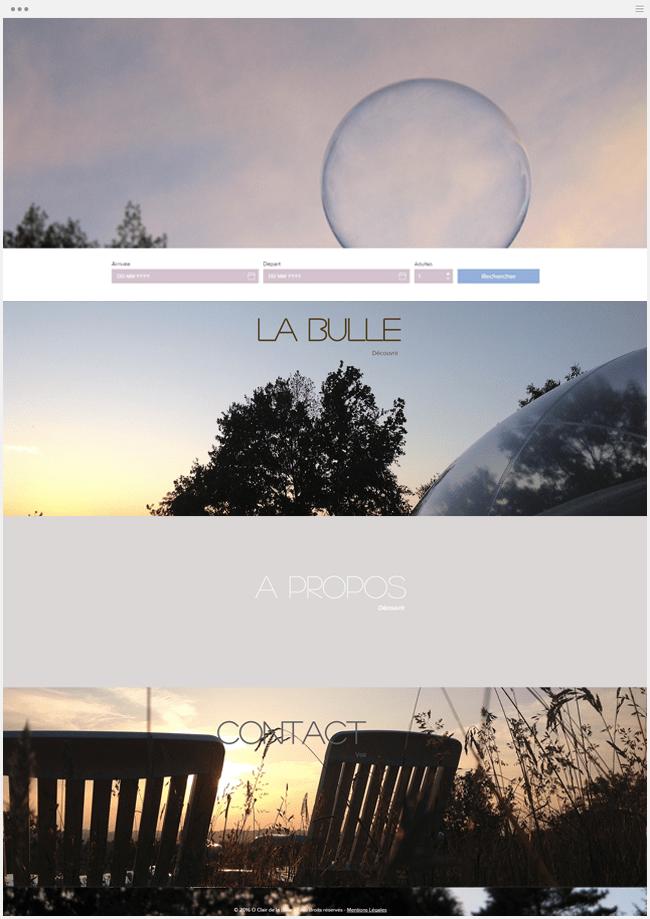 la bulle chambre d'hôte site internet wix
