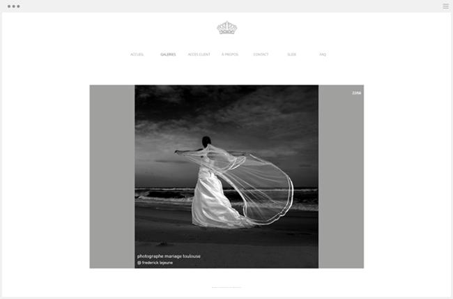 site photographie frederick lejeune créé avec Wix