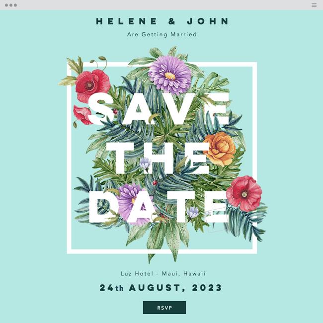 template de site gratuit invitation de mariage