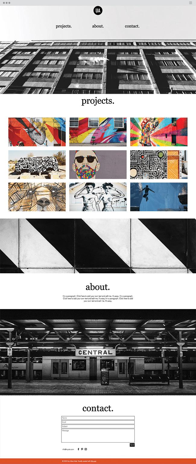 template de site gratuit artiste de rue graffiti