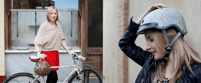 cadeau de Noël casque vélo original