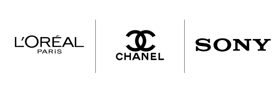 Logo Sony, L'oréal et Channel