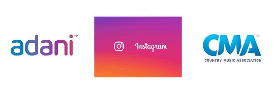 Logos Adani, Instagram et CMA