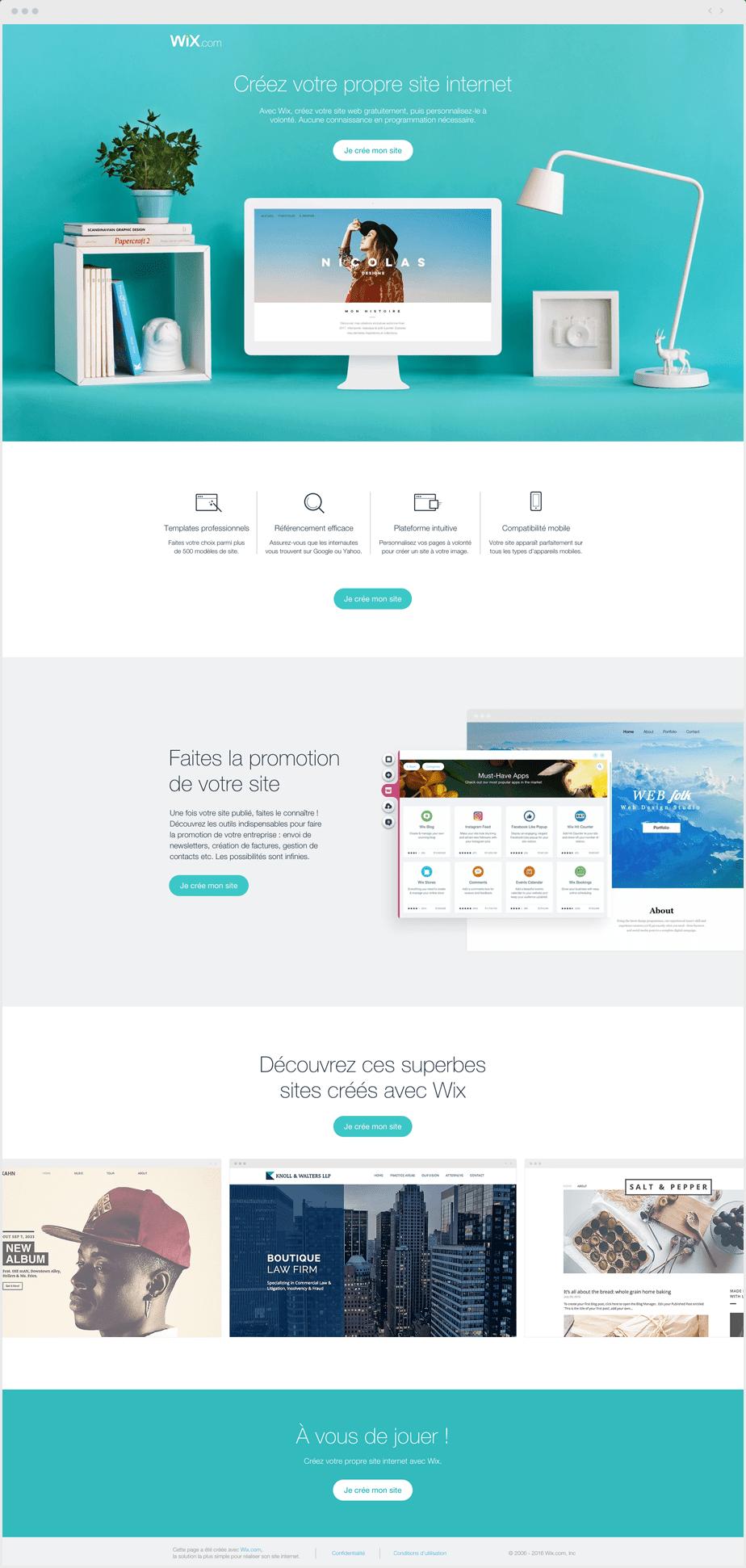 Créez votre propre site internet