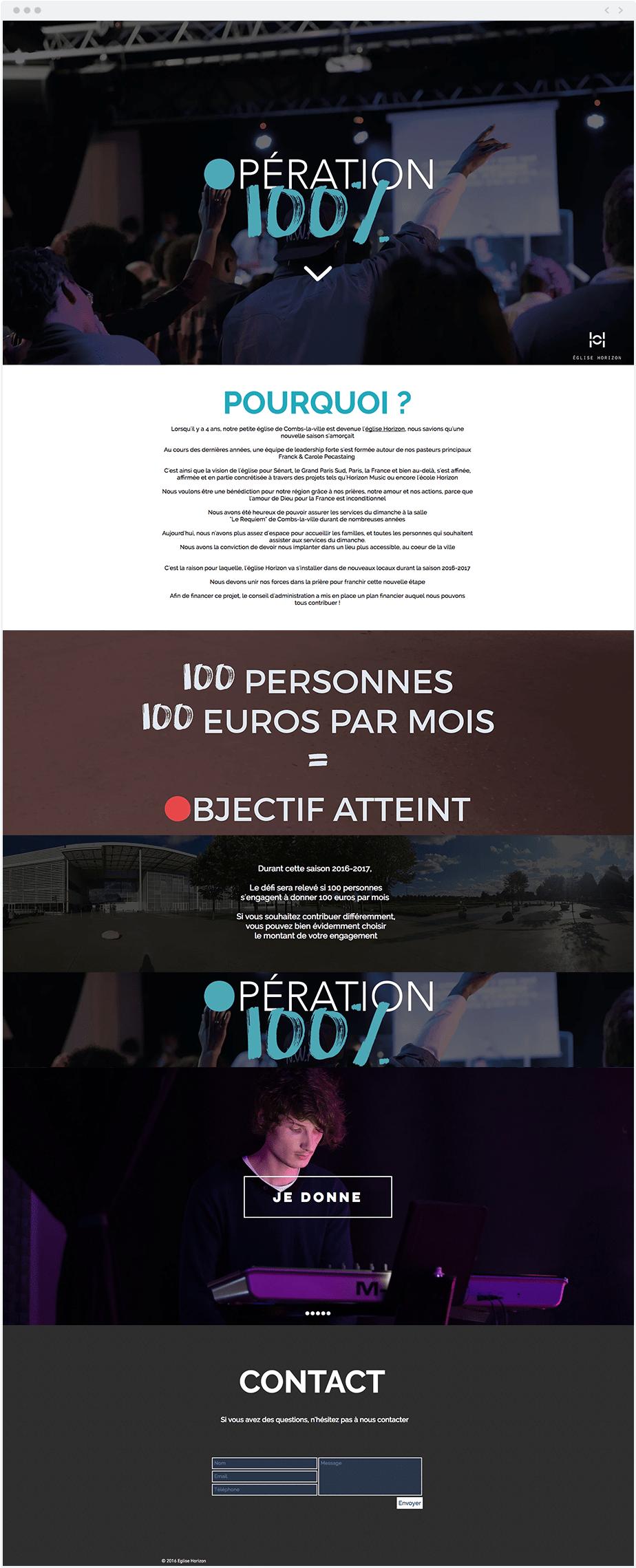 Eglise Horizon opération 100 %