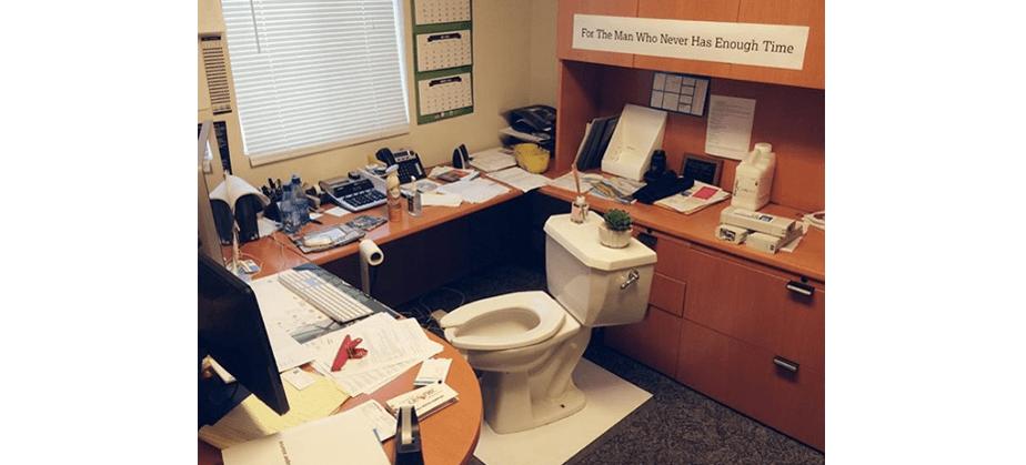 Blague de bureau - la chaise