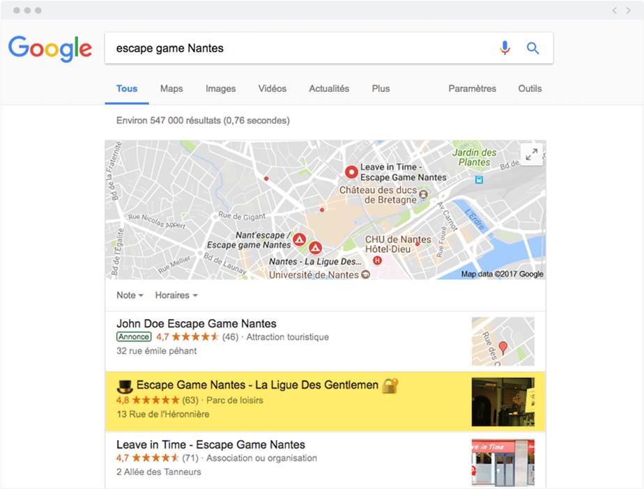 Ajouter un Emoji dans les pages de résultats Google
