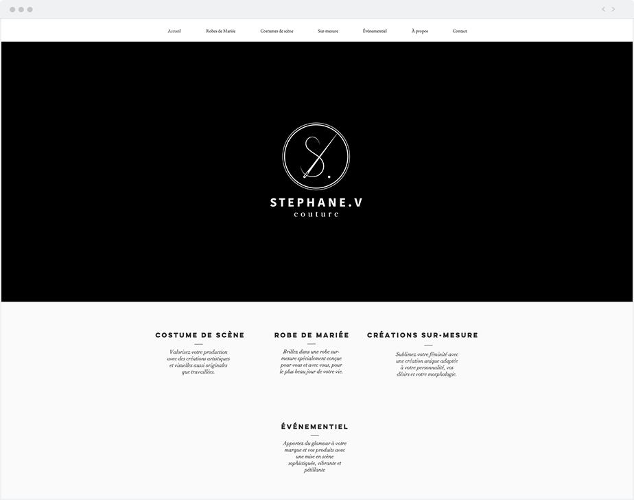 Un site minimaliste