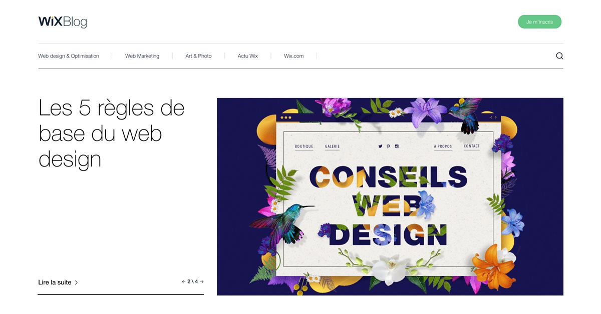 wix.com - Blog de Wix   Web design & conseils pour créer votre site