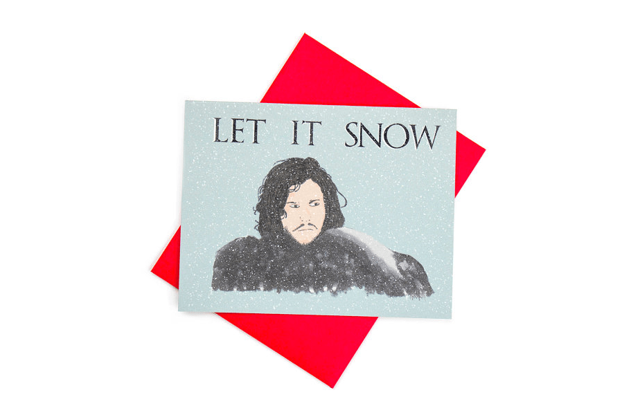 Carte de voeux Jon Snow