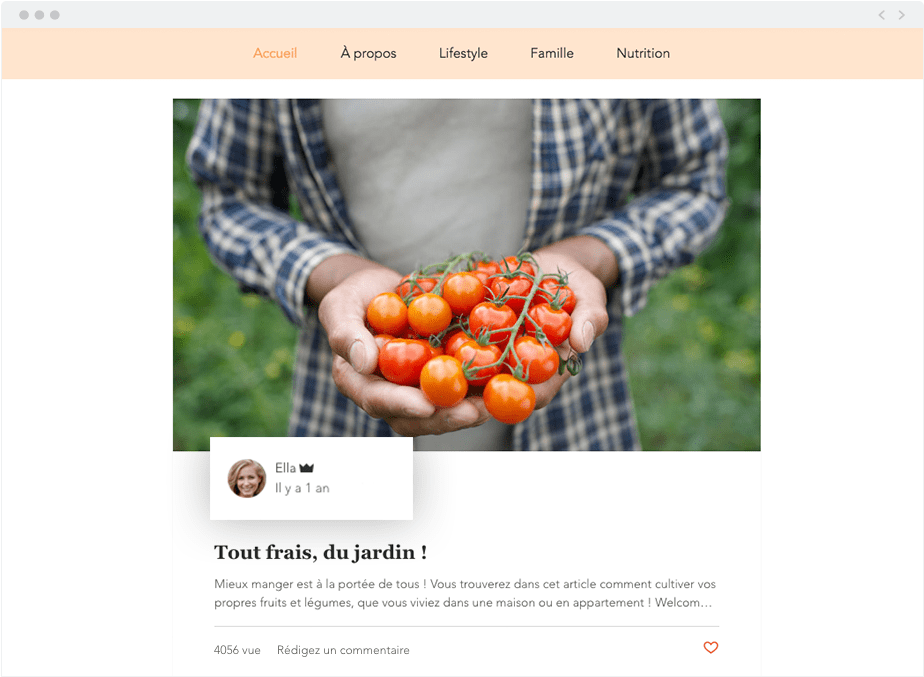un blog pas mis à jour