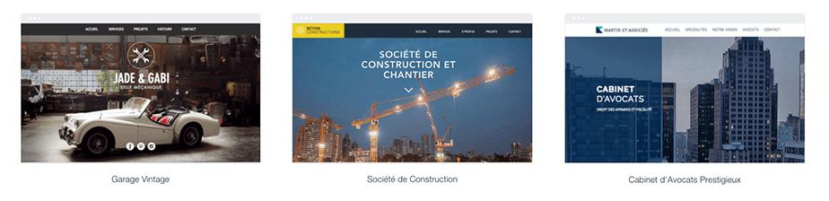 Template site d'entreprise