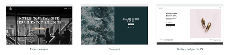 Templates Landing page