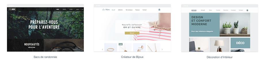 Templates boutiques en ligne