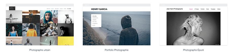 Templates sites de photographie