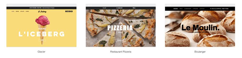 Templates site restaurant