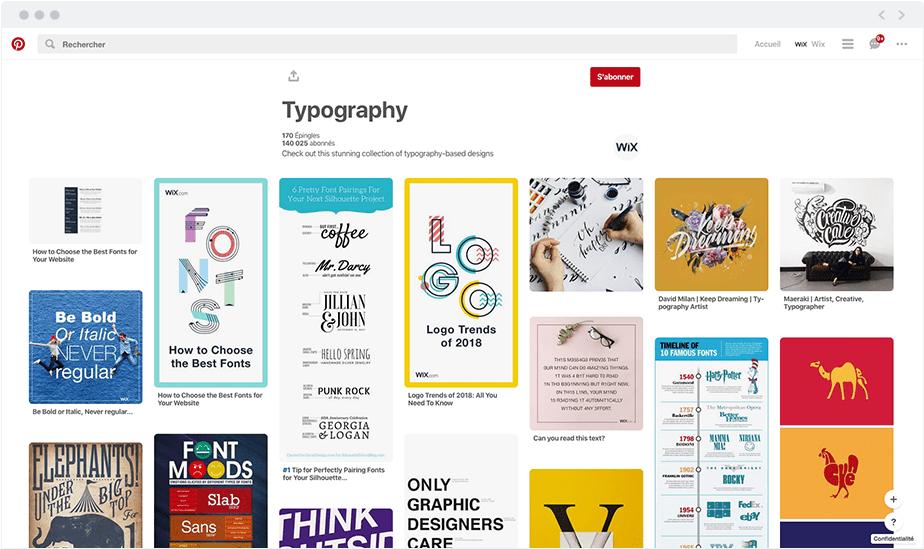 Typographie sur Pinterest