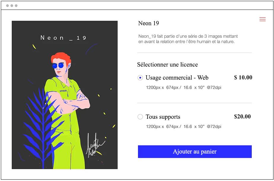 Vendez votre travail sur le Wix Art Store