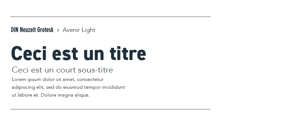 associations de typographies